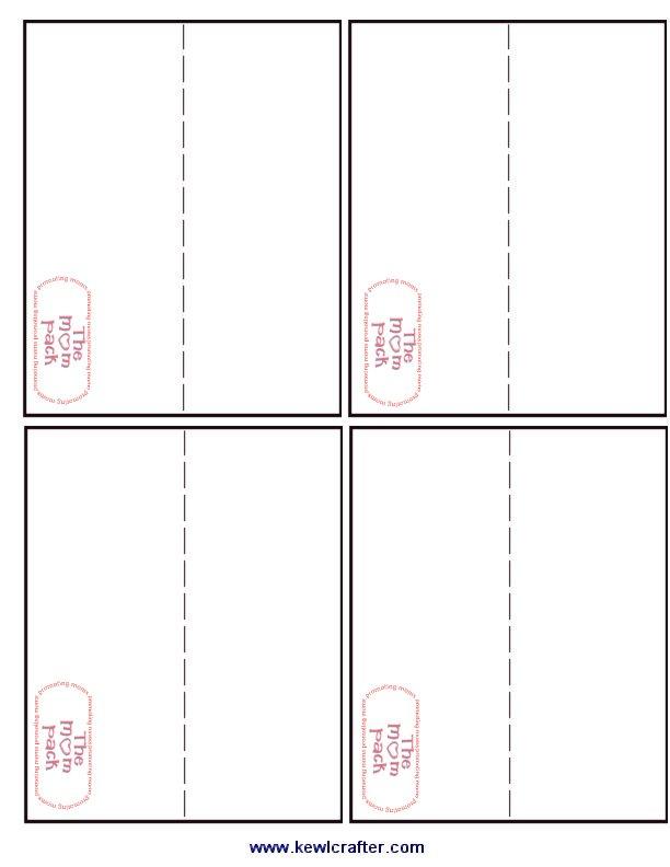 3 x 5 card templates